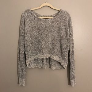 AEO knit 3/4 Dolman sleeve crop sweater